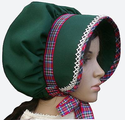 Victorian ladies bonnet costume fancy dress Dickensian Christmas carol singer cr