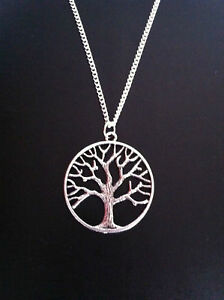 SILVER-TREE-OF-LIFE-CHARM-NECKLACE-PENDANT-18-034-CHAIN-FREE-GIFT-BAG-UK-SELLER