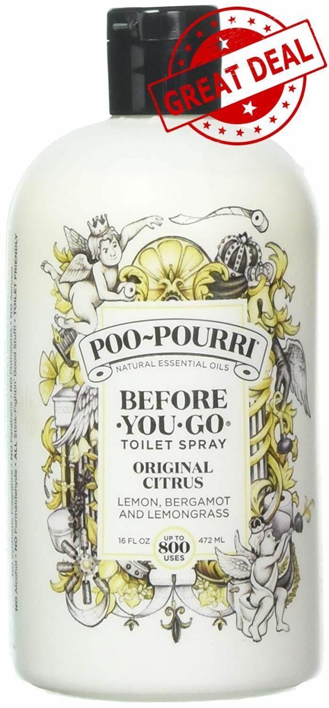 Poo pourri before you go toilet spray 16 oz bottle - Poo pourri before you go bathroom spray ...