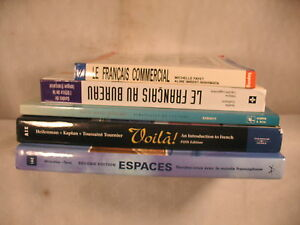 Lot 5 french language books le francais commerical au bureau lire