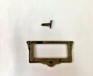 Bocchetta-Borchie-Borchia-Rettangolare-Chiavi-serratura-mobili-ottone-anticato
