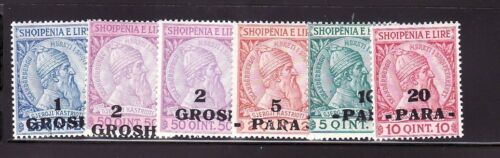 ALBANIA Sc 47-52 LH ISSUE OF 1914 - OVERPRINTS ON 1913 SET