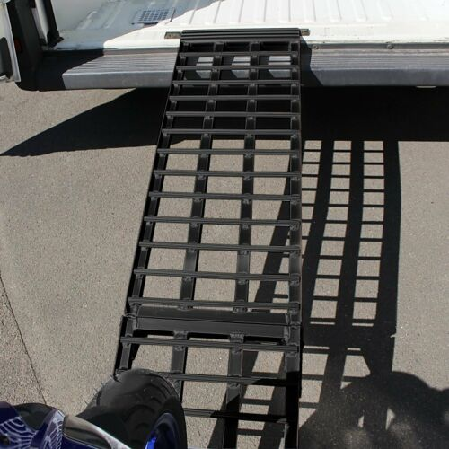 Motorbike Ramp Motorcycle Aluminium black Ramp Heavy Duty max folding 680 kg