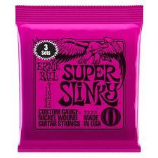 Ernie Ball 3 Pack Super Slinky Níquel Herida cuerdas para guitarra eléctrica calibre 9-42