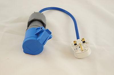 Caravan Camping UK Mains Converter Lead Electric 13 amp Hook Up Power Adapter