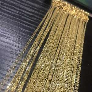 Wholesale-genuine-18K-SOLID-YELLOW-GOLD-NECKLACE-O-shaped-chain-Clavicular-chain