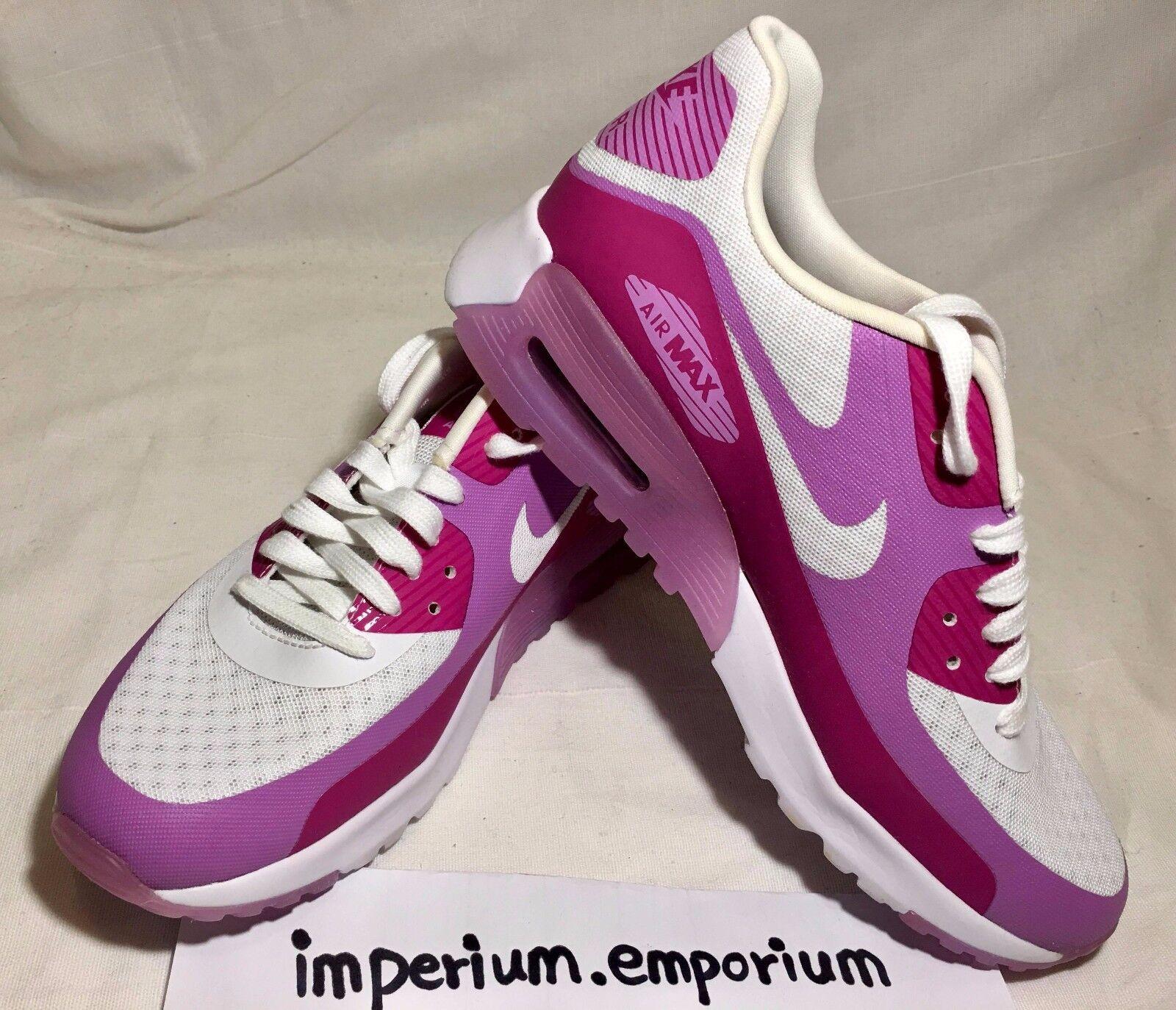 Nike Women's Women's Women's Air Max 90 BR White Pink Trainers Size UK 4.5 ec2984