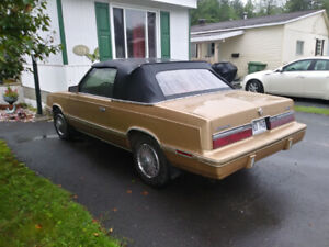 chrysler le baron convertible 1983