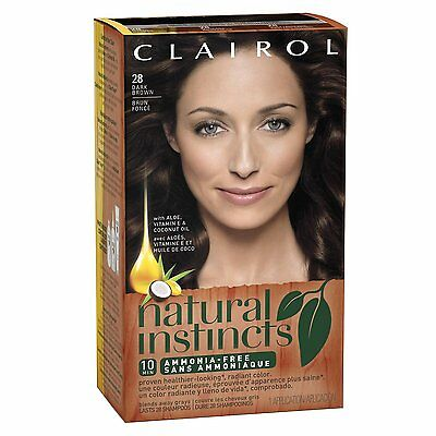 Clairol Natural Instincts 28 Nutmeg Dark Brown (Pack of 6)