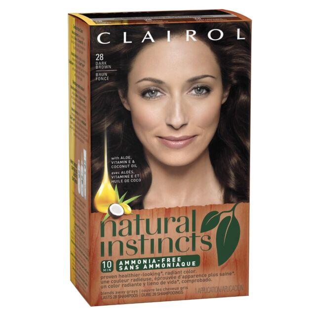 Clairol Natural Instincts 28 Nutmeg Dark Brown (Pack of 6)
