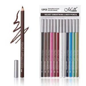 12-Piezas-Delineador-Lapiz-Labial-Pluma-impermeable-de-larga-duracion-Lapiz-Maquillaje-Set-Mate