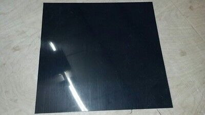 "BLACK POLYETHYLENE HDPE PLASTIC SHEETS 1/8"" YOU PICK THE SIZE - VACUUM FORMING"