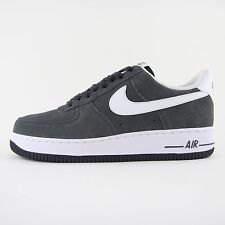 New Mens Nike Air Force 1 07 Grey White Suede Trainers UK 12 BNIB 315122 067