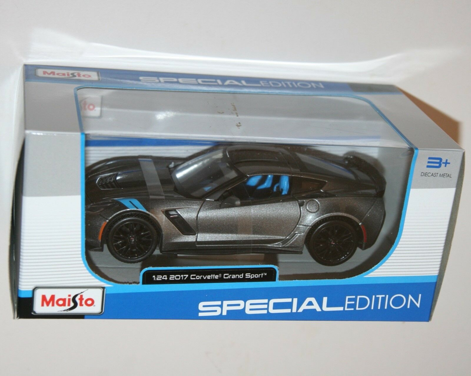 Maisto - 2017 CHEVROLET CHEVROLET CHEVROLET CORVETTE GRAND SPORT  (Grey) - Model Scale 1 24 2decd3