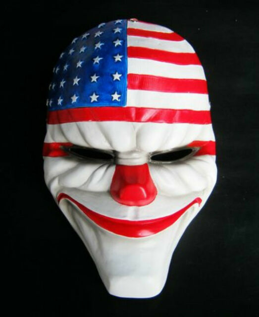 Payday 2 Dallas Mask Joker Heist Costume Prop Cosplay Disguise Resin Wall Decor
