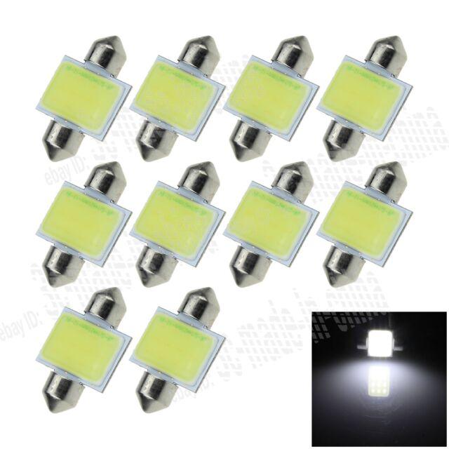10X White 31MM 1 12 Chips COB Festoon Dome Map LED Light Bulb DE3425 I015