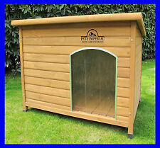 Pets Imperial® Extra Große Isolierte Qualitative Norfolk Holz Hundehütte