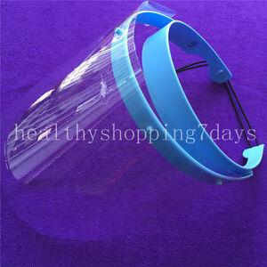 10x Dental Face Shield Plus Detachable Visors Protective Plastic Films MasksQO Kopfbekleidung