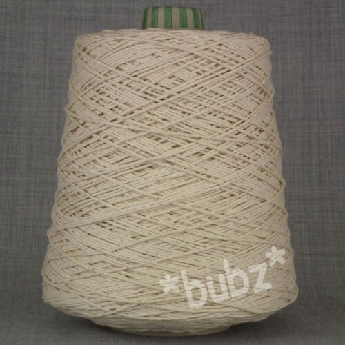WARP COTTON ECRU UNDYED YARN BIG 500g CONE 10 BALLS WEAVING CROCHET DISHCLOTH