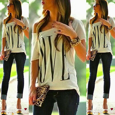 Top Design Women's Sexy Off The Shoulder Long Sleeve Casual T-Shirt Tops Blouse