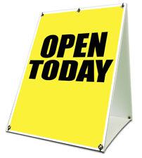 Open Today Sidewalk A Frame 18x24 Outdoor Vinyl Retail Sign