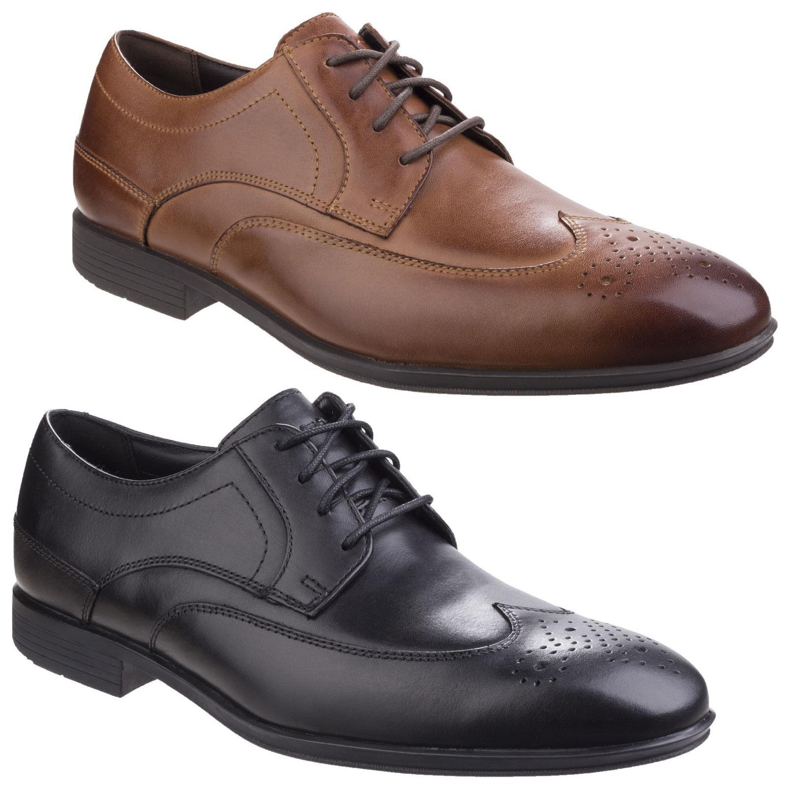 Rockport stile Connected ALA estremità Scarpe formali stringate in pelle uomo Scarpe classiche da uomo