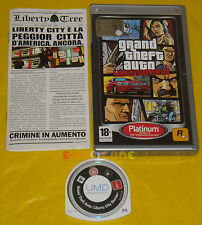 GRAND THEFT AUTO LIBERTY CITY STORIES Psp Versione Italiana Platinum ••••• USATO