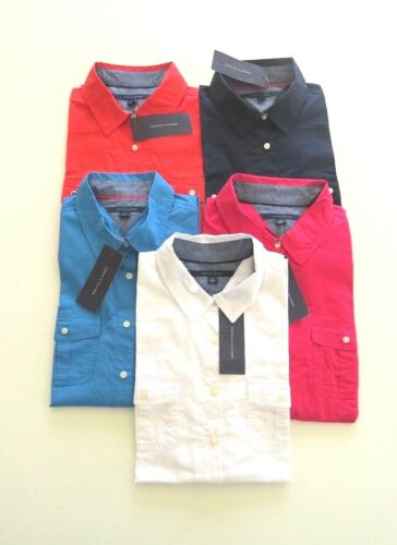 Tommy Hilfiger roll tab  sleeve  shirt five colours