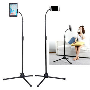 "66"" Folding Phone Tripod Floor Stand Mount Floor Selfie Stick Holder for Tablet"