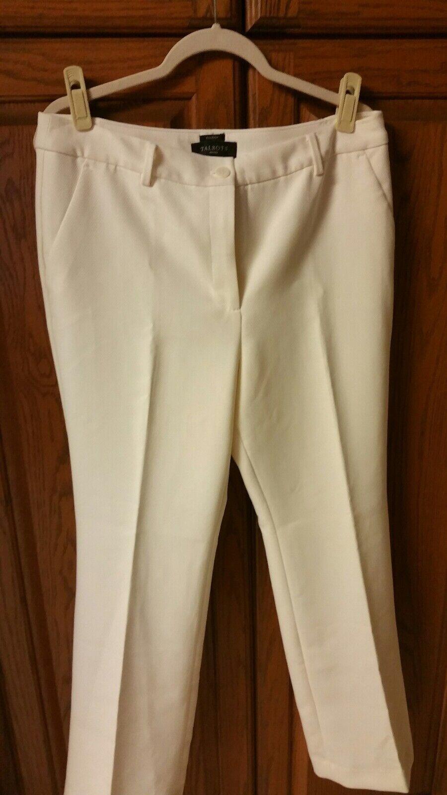 Ladies, white Talbots dress pants, NWT, size 12