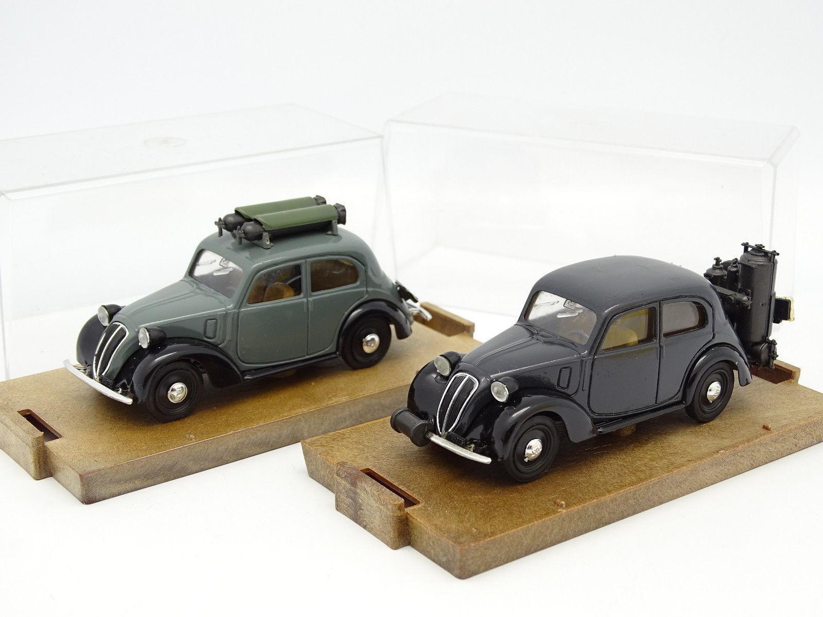 Brumm 1 43 - Lot de 2 Fiat 508 Gazogène