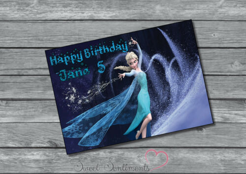 Frozen Personalised Birthday Card Style 3 A5 Glossy