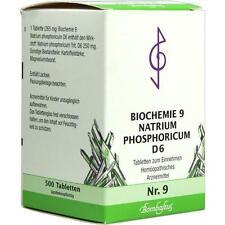 BIOCHEMIE 9 Natrium phosphoricum D 6 Tabletten 500St Tabletten PZN 1073797