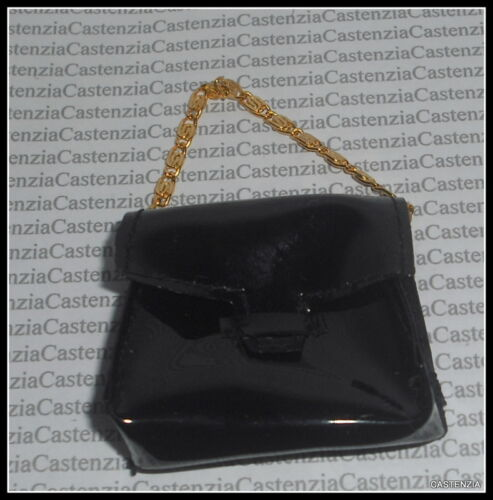 PURSE MATTEL BARBIE WINTER IN NEW YORK CHAIN BLACK PURSE HANDBAG ACCESSORY
