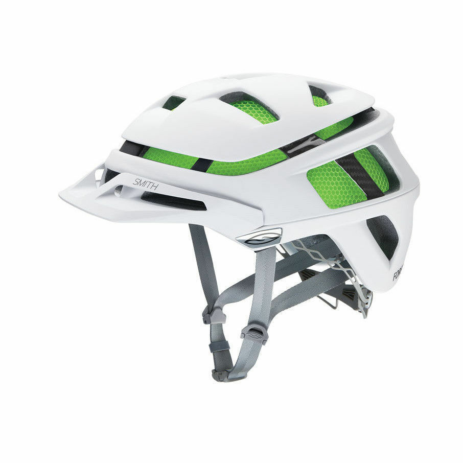SMITH Forefront Cycle MountainBike MTB Helmet Matte White  w Green Small 51-55cm  export outlet