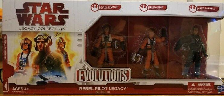 Star Wars Evolution Rebel Pilot Legacy John Brandon Shia Brie Jake Farrell