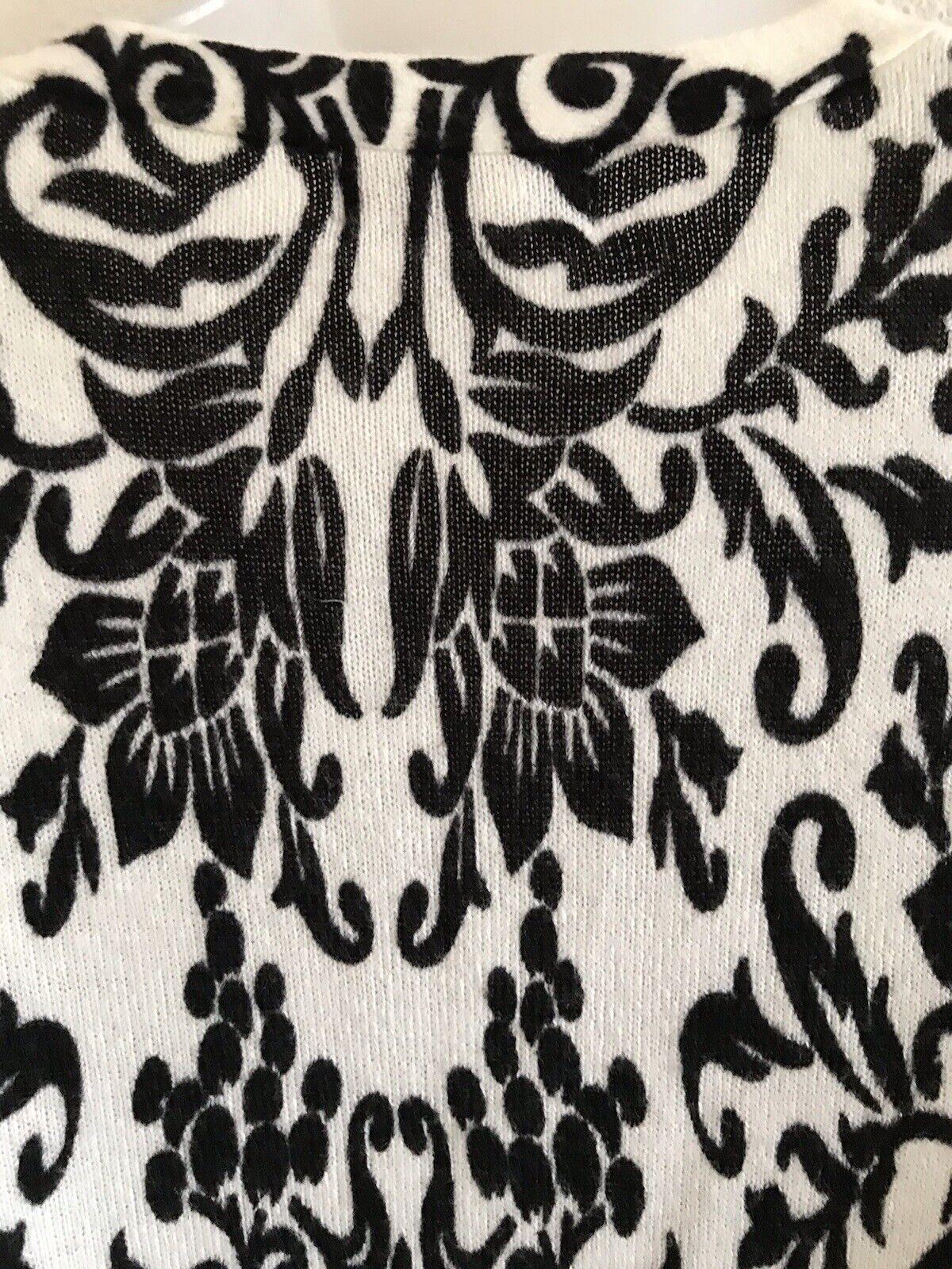 CHRISTOPHER & BANKS Black And White Paisley Cardi… - image 8