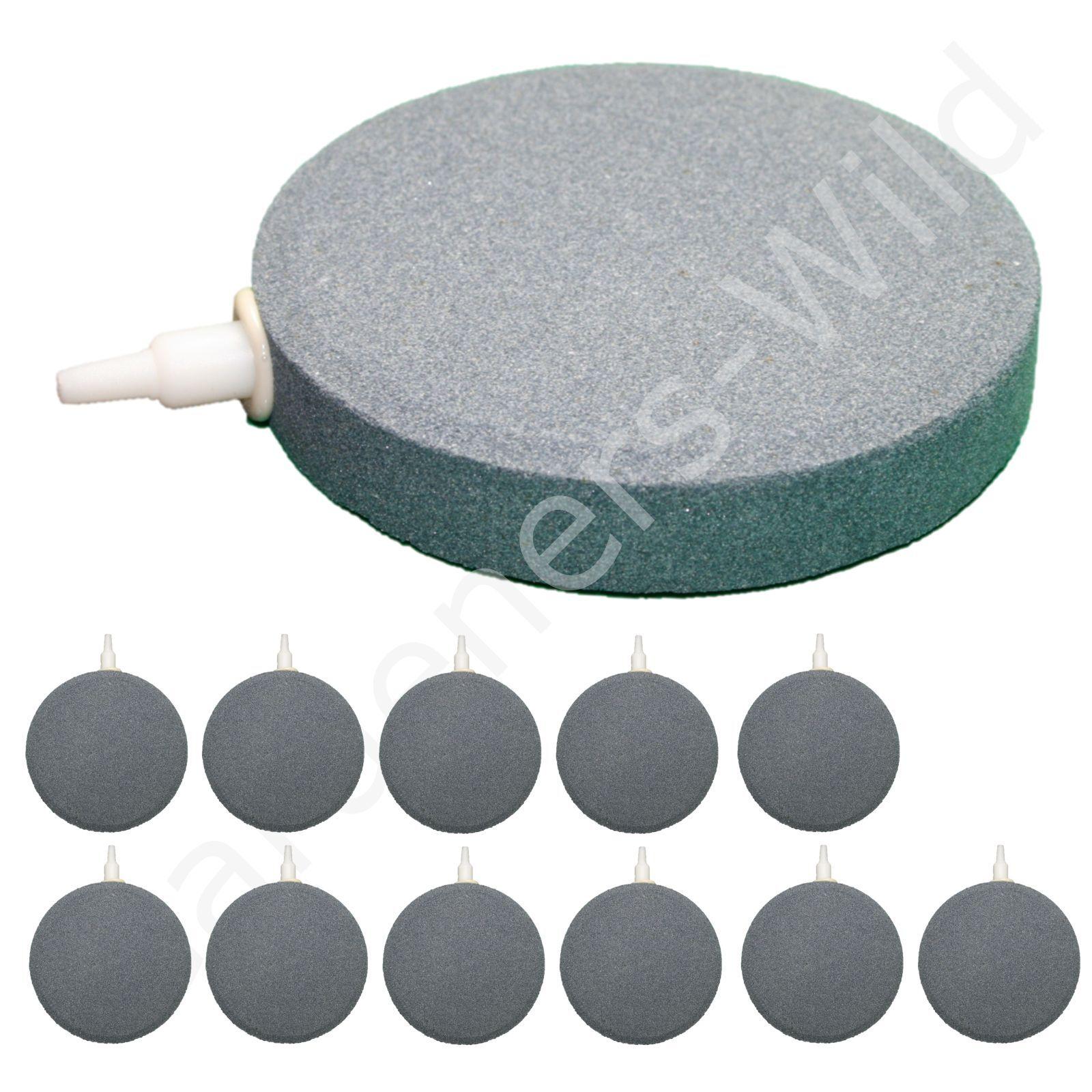 4  10cm AIR STONE (x12) HAILEA large round ceramic airstone hydroponic pond koi