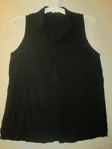 Thyme-amp-Honey-Size-XL-Soft-and-Lightweight-Black-Sleeveless-Blouse