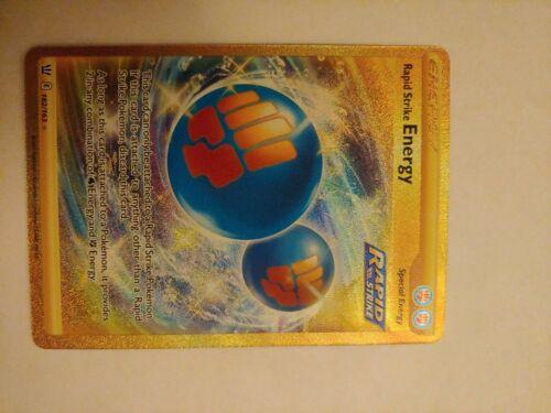 Rapid Strike Energy - 182/163 - Holo Secret Rare Battle Styles Pokemon Card Mint