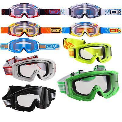 O 'neal B2 Rl Chiaramente Mx Goggle Motocross Occhiali Moto Cross Enduro Dh Downhill-