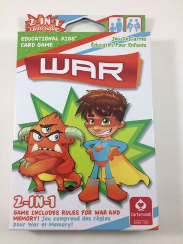 """War"" Cartamundi Educational Kids' Card Game 2in1"