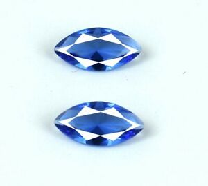 Natural Marquise 1.50 Ct Ceylon Blue Sapphire Ring Size Gemstone Pair Certified