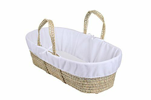 Clair de Lune Fleece Liner//Dressing for Palm and Wicker Moses Baskets White