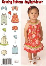 Baby Girl Dress Romper Panties Jacket Hat Size 0-24 lbs Sewing Pattern 1700 #v