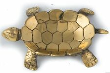 Vintage Brass Sea Turtle Animal Coin Jewelry Trinket Candy Soap Dish Ash Tray
