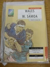 06/10/1991 Rugby Union: World Cup, Wales v Western Samoa [At Cardiff Arms Park]