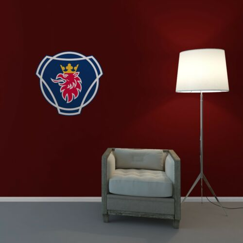Scania Badge Wall Art Sticker Lounge Bedroom Garage Workshop Removable Vinyl