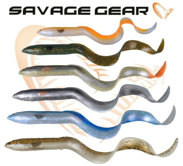 SAVAGE GEAR 3D REAL EEL READY TO FISH LURES PIKE ZANDER FISHING 20cm 38gm