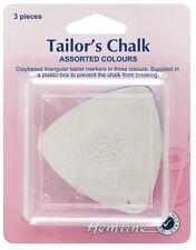 Hemline Triangular Tailors Chalk 3 Pack